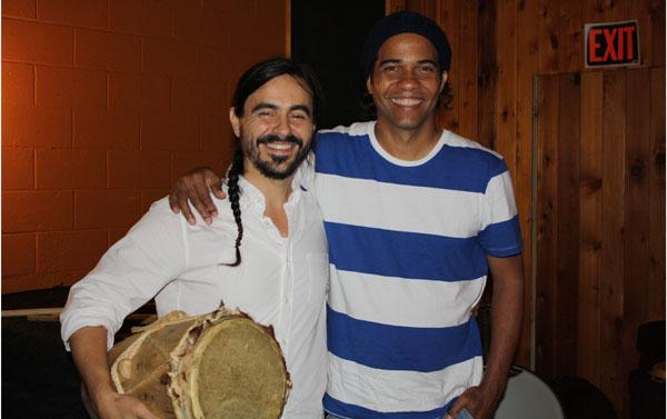 Alberto Lopez (left) with Master artist Eduardo Martinez