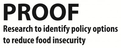 PROOF - Research to identify policy options to reduce food insecurity