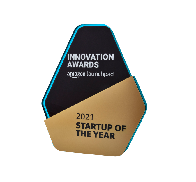 Amazon 2021 Startup of The Year Logo